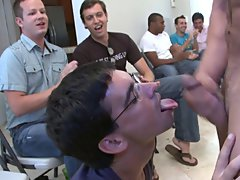 Gay group male sex and male masturbation group at Sausage Party