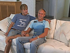 Jesse fucks the daylights outta Tory and keeps fucking him while Tory shoots loads of CuM gay male twinks having sex