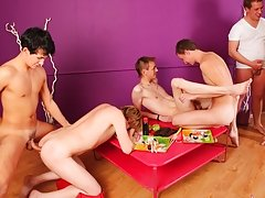 Groups of men naked in th at Crazy Party Boys