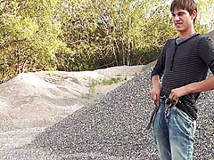 Outdor Peeing nude men outdoors