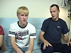 Steve started out sucking on Aiden's cock who was sitting in the middle, and then Aiden got turned on and sucked on Torin's cock who was sit