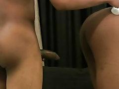 Naked black college men and white men eating black pussy