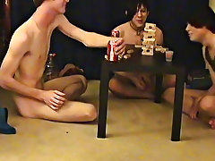 """ This is a lengthy clip for you voyeur types who like the idea of watching these lads receive naked, drink, talk and play ribald games"