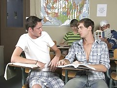 Animosity turns to desire, and desire turns to fervent and unstoppable twink fucking gay twink and older man at Teach Twinks