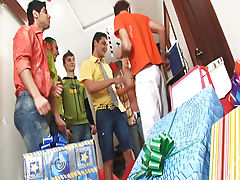 Amazing gifts are prepared for the guy who has name day today sex mpg group gang bang gay at Crazy Party Boys