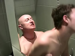 Jake was happy to oblige, and slurped on his young cock and tight butthole to prepare it also in behalf of the ardently pounding on the toilet gay har