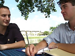 In this episode, we find ourselves a studious fellow who just so happened to be doing some homework outdoor gay gallery