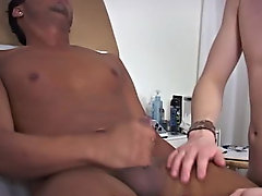 Ajay climbed up on the table and after bending his legs a couple of times gay tgp interracial