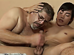 Soon he was unconscious on the bed, and then his lover came and started feeling the twink up bizarre male dildo sex
