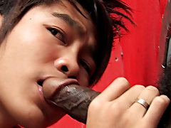 Oscar is 19 years old and demonstrates here his sucking skills and how to pop, incarcerate and drop his phat ass on a significant black dick asian gay