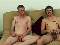 Quickly stripping down naked, Sean and Mike sat back down and wanked off to some straight porn anal gay porn
