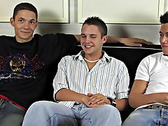 Michael, Ty and Trevin Nills are getting together for a hot jerkoff session, they each take out there dicks and compare the, as soon as they are naked