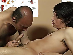 In seconds he was blowing the twink's fat spicy meat like crazy gay mature men