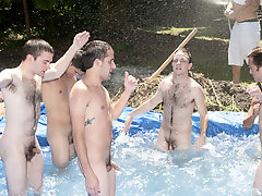 There is nothing like a nice summer time uproar, uniquely when the pool is man made and ghetto rigged as fuck army gay group sex