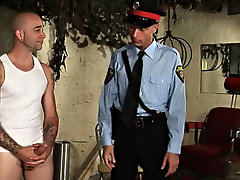 Uh oh, somebody has gotten in in a family way with the law and his punishment is some hardcore first time gay sex gay sex fetish