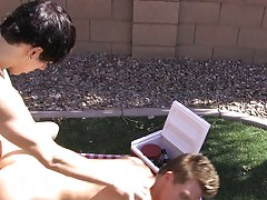 There's a real spark of romance between twinks Lexx Jammer and Chad Hollywood as they share a picnic together outdoors gay outdoor sex vids