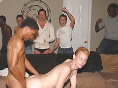What happens when more elevated classmen invite freshmen to their parties gay interracial hardcor