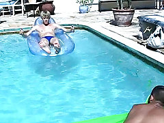 Ajay Cavalli, Cody Taylor, Felix Andrews, Mash, Ricardo and Rick Valentine were hanging close the pool, enjoying a day unacceptable of class and even