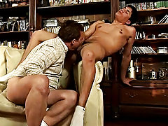 His muscled lover wants to audit to it, so he starts plowing the soft horny behind till his shaft is willing to fill the older lover's mouth with