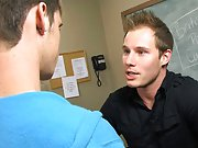 Adrian Layton plays innocent when he's caught trying to pull off a graduation prank by his teacher gay frat dudes twinks sex pics at Teach Twinks