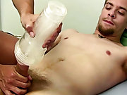 He says it feels good, but using it on his teats makes him ticklish guys who masturbate togethe