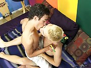 Twink seduced and stripped by older gay porn and twink in panties fucked