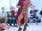 Male breasts groups and gay male strip groups at Sausage Party