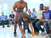 Group men pissing and gay army group sex at Sausage Party