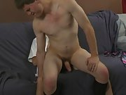 Andy touches himself while his throat works first time gay experienc at Teach Twinks