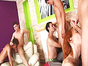 Group men sex and group gay porn fucking at Crazy Party Boys