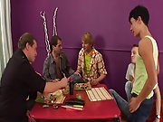 Teen jerking gay men group and naked men fucking in group at Crazy Party Boys