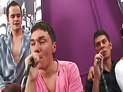 Gay rimming groups and male group shower at Crazy Party Boys
