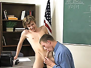 Gay double penetration porn free twink and roxy red twink fucked hard at Teach Twinks