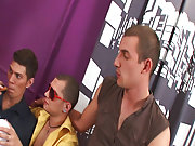 Gay group blowjob and gay toons havin group sex at Crazy Party Boys