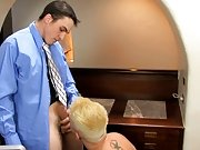 After that, he lets Joey bend him over and fuck him nice and hard all over his office first time gay sex actio at My Gay Boss