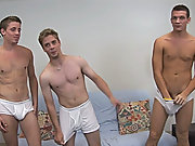 Then the boys roll over and Jayce beats his pith giving us another cum discharge but then by surprise, Sean cums again gay group action