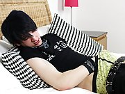 One of the most confident models we have had in the studio by go beyond a thus far solo masturbation gay at Homo EMO!