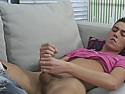 He laid back on his bed, pulled his shirt off and showed his flawless body male voyeur masturbation