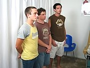 I came all upward of myself, shooting the load on my stomach fraternity gay group se