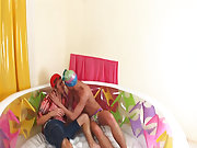 Pretty nice surprise is prepared for Alex today first time experience gay at Boys Pee Pee