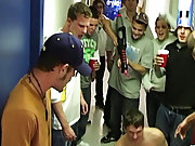 They got these two guys that are trying to get into their frat, and they completely humiliate them group fuck gay
