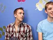 Patrick Kennedy and Dylan Chambers sit down for a quick interview before their scene boys first time gay at Boy Crush!