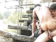 Much to the boy's their heels, the man then threw his tight strong ass on the stick males caught outdoors nude