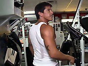 Joey's at it again, we decided to head out to the gym for a little workout ass male lower waist muscle