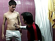 Actually, he came in to check out his smooth young body, as he licked his torso and then pulled off his underwear to suck on his dick wet