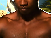 """""""Hey there honcho, is that a dumbbell in your swimming trunks or are you  happy to see me"""" black on black gay fucking"""