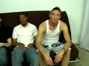 I had a duo shoot planned with Brandon and Damien going to do another shoot for us interracial male wrestling