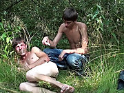 Bound and Waxed Friend naked guys outdoors